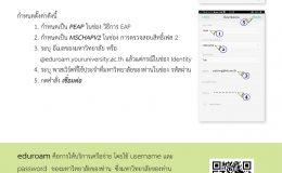 การเข้าใช้อินเทอร์เน็ตบนมือถือใน มอดินแดงเกมส์ ผ่านเครือข่าย eduroam